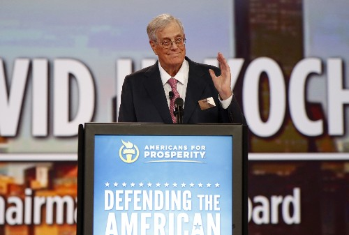 The Latest: Koch remembers brother as 'giant personality'