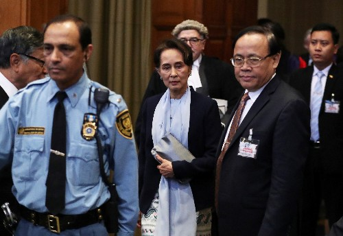 Suu Kyi tell U.N.'s top court charge of Rohingya genocide is 'misleading'