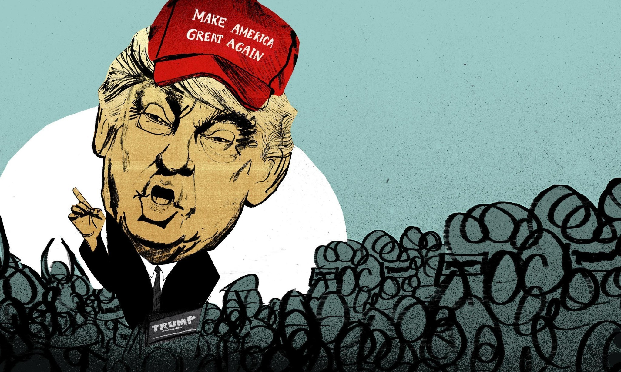 'Could he actually win?' Dave Eggers at a Donald Trump rally