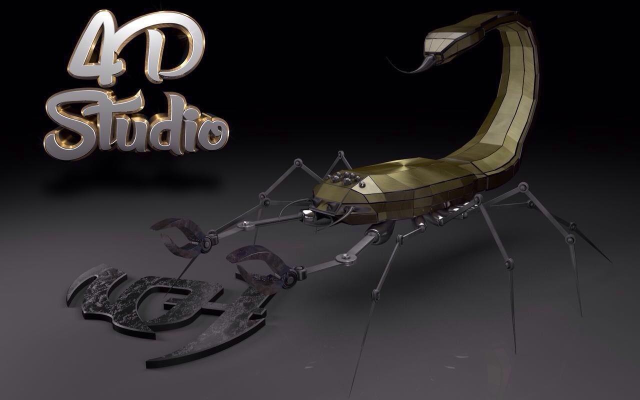 Robot scorpion 4D Studio