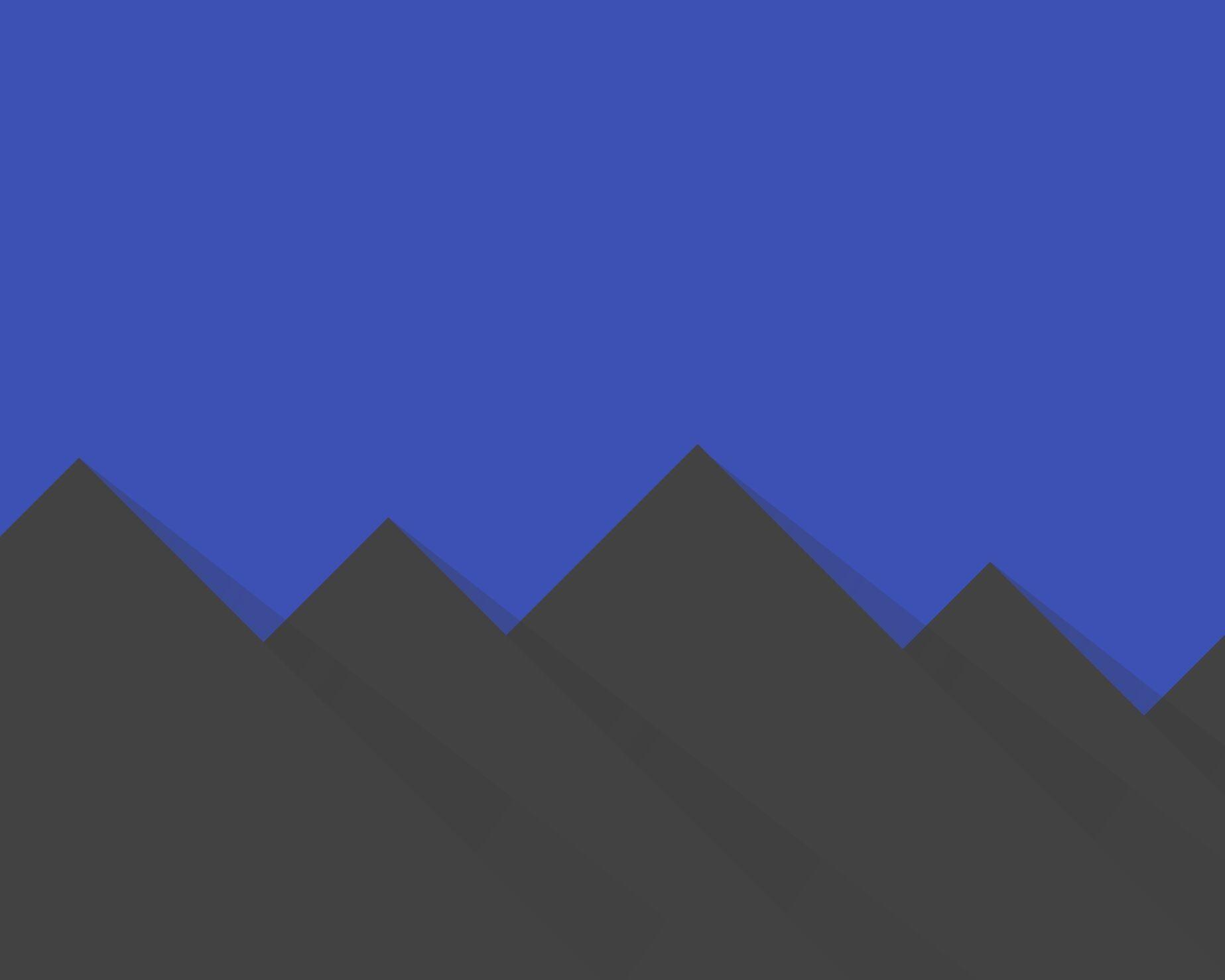 Material Hills dark -- wallpaper