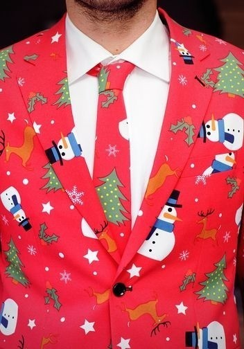 Take That Ugly Christmas Sweater to the Next Level: Suits