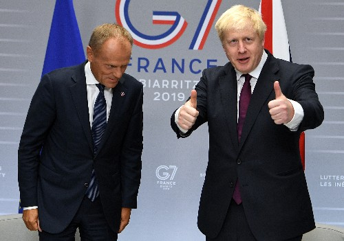 UK PM Johnson told Tusk: We leave EU on Oct. 31 whatever the circumstances