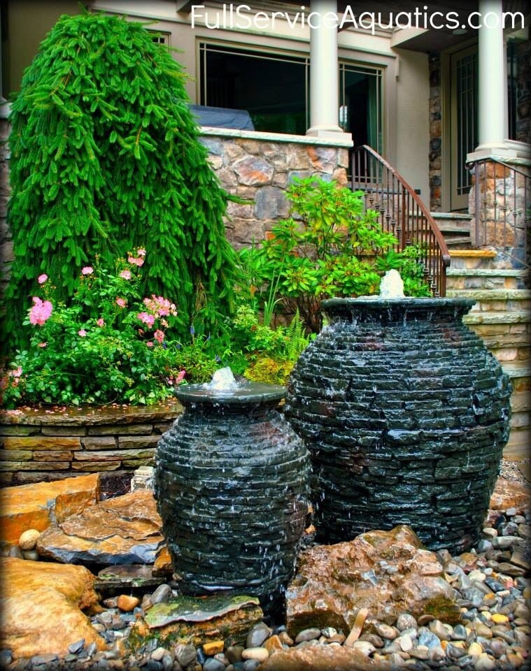Paradise Ponds -Stacked Slate Urns - cover