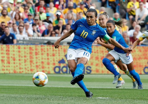 Soccer: Marta dedicates landmark goal to gender equality
