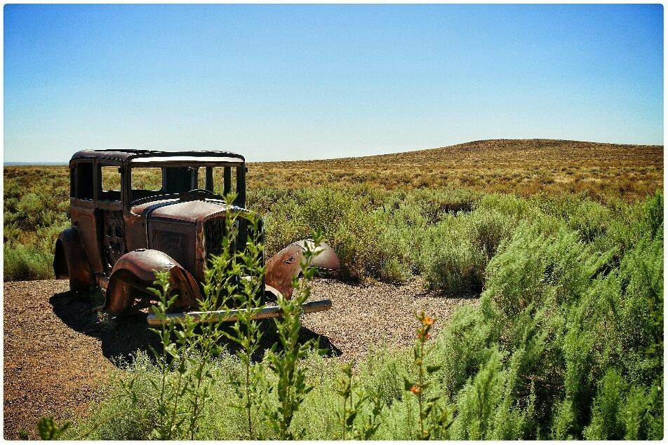 remnants of the old mother road... (Route 66, US c.July2016)