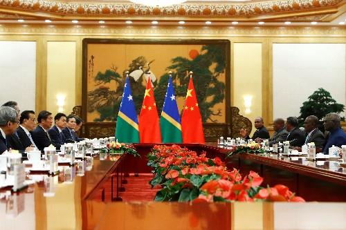 Dokument - China lockt kleinen Inselstaat mit 100-Milliarden-Dollar-Kredit