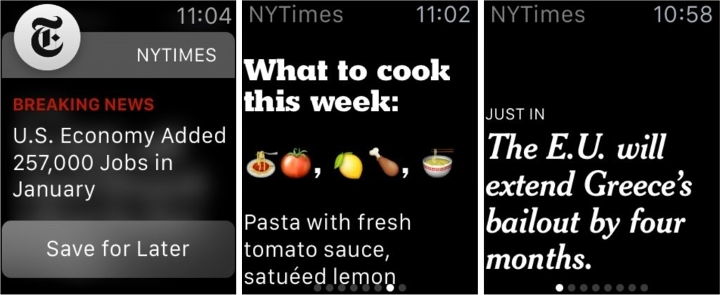 New York Times, Uber and Flipboard get ready for Apple Watch