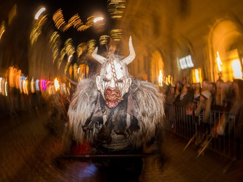 Krampus Running Amok in Central Europe: Pictures