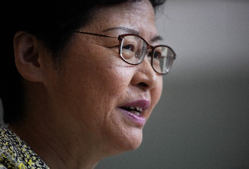 Hong Kong leader hopes town hall will be start of healing