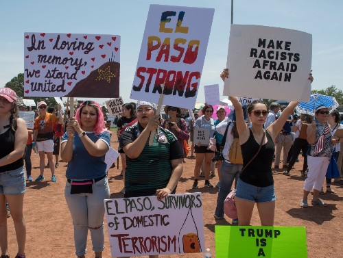 Protests and Rallies as Trump Visits Dayton, El Paso: Pictures