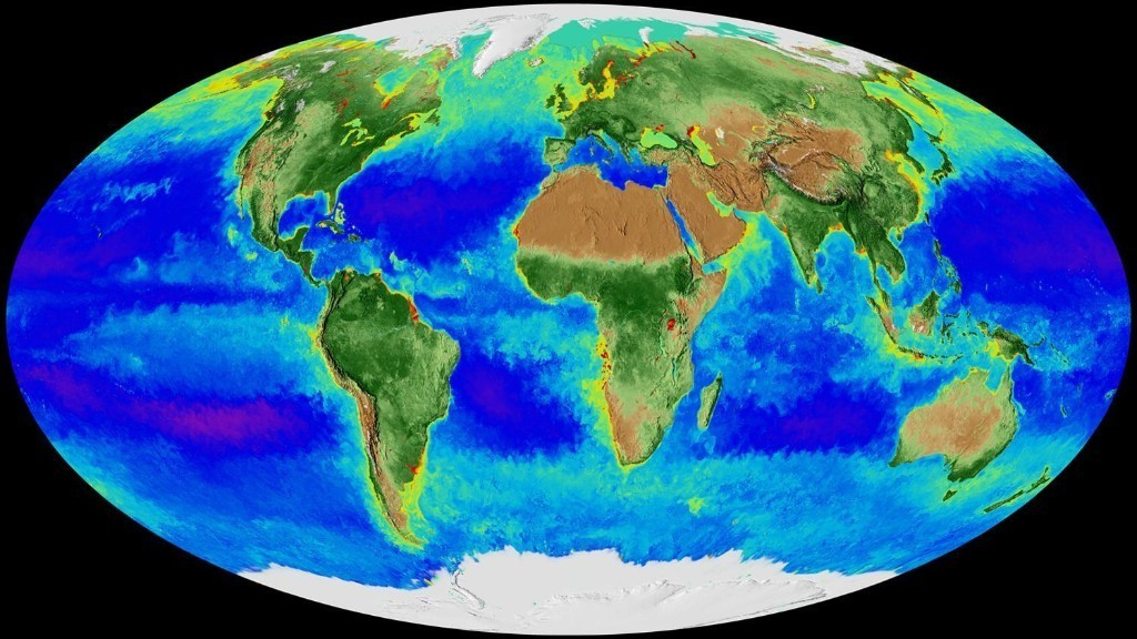 Nasa map of Earth's seasons over 20 years highlights climate change