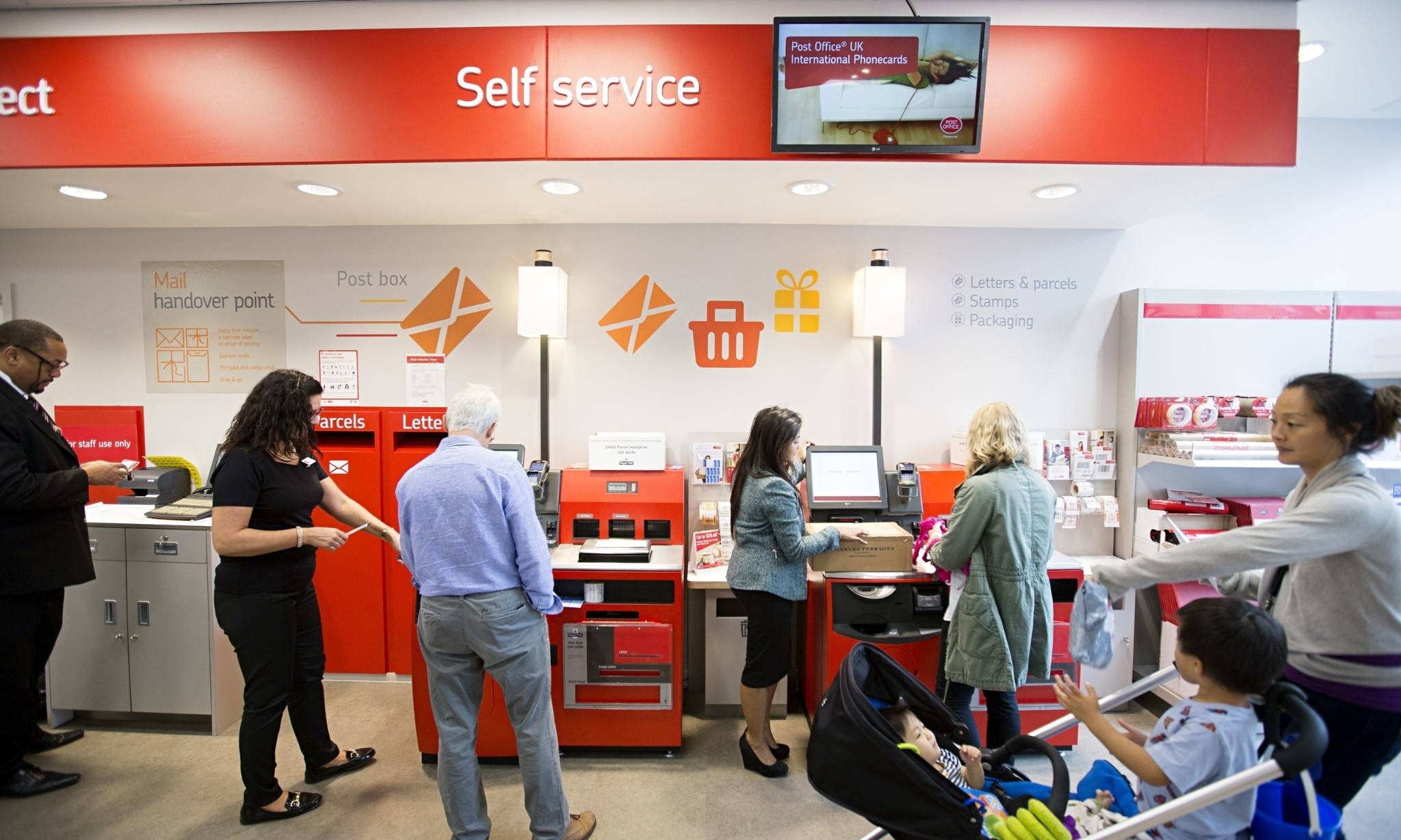 Automated lockers and self-service kiosks rule as Post Office hits digital age