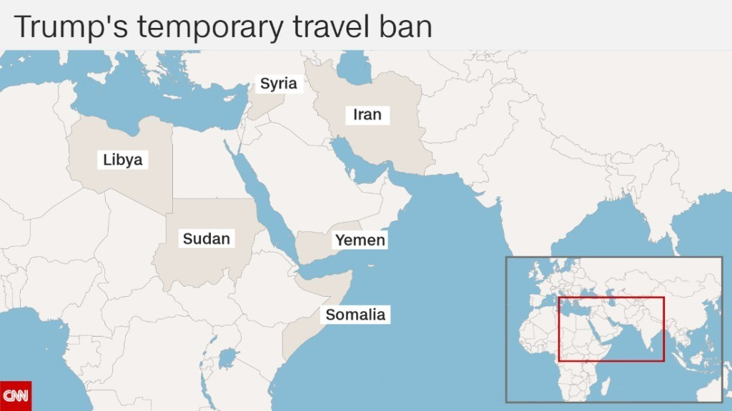 Opposition groups launch instant backlash to new travel ban