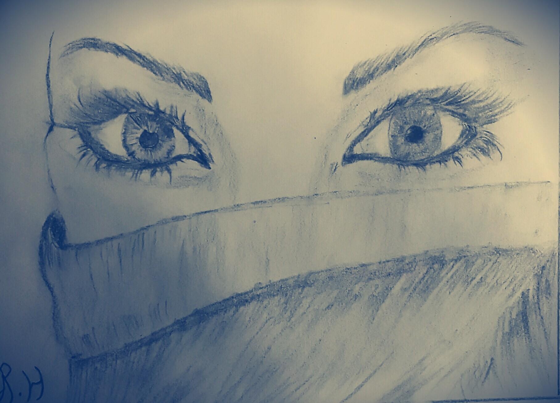 """"""" و رأيت في عينيها ما لم يرى قيس في ليلى """" 😊👀"""
