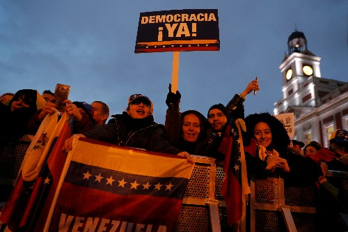 Thousands support Venezuela's Guaido at Madrid rally