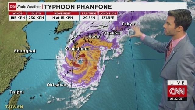 U.S. airman dead, 2 missing in Japan typhoon