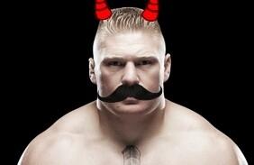 Mustache brock lesnar