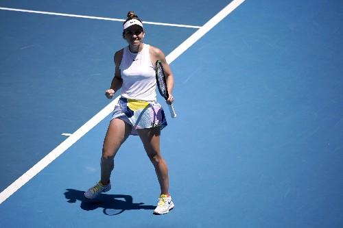 Counter-punching Halep beats Mertens to reach Australian Open quarters
