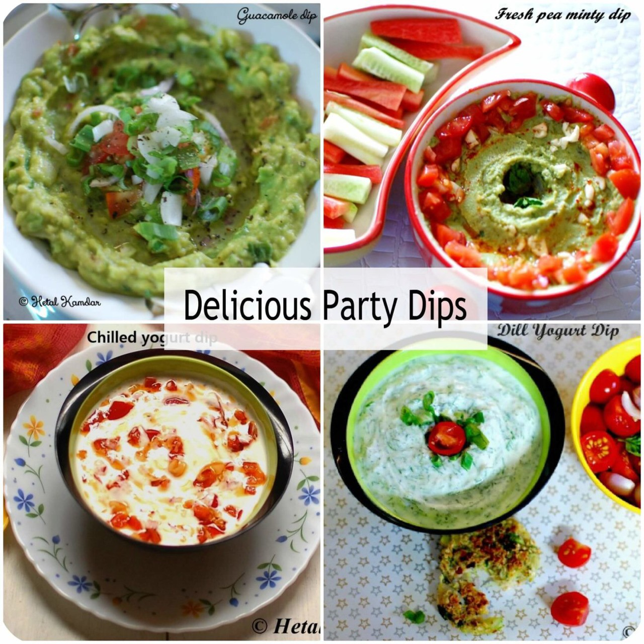 6 Party Dips - quick n easy
