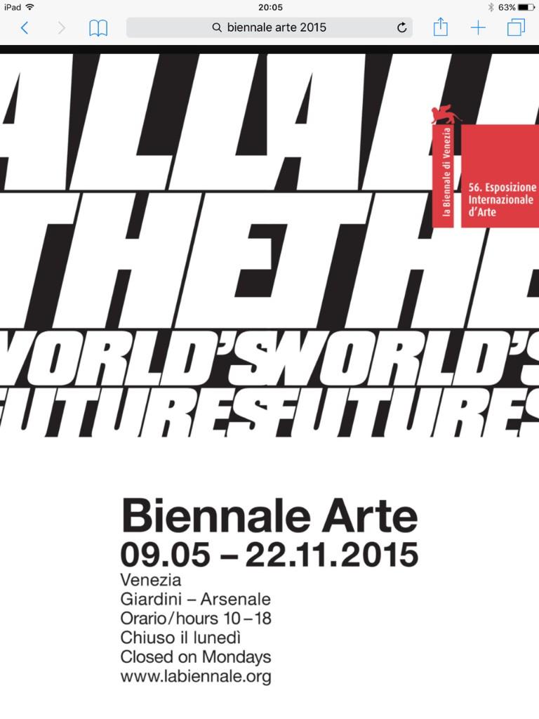 56a Biennale Arti Visive di Venezia 2015 - cover