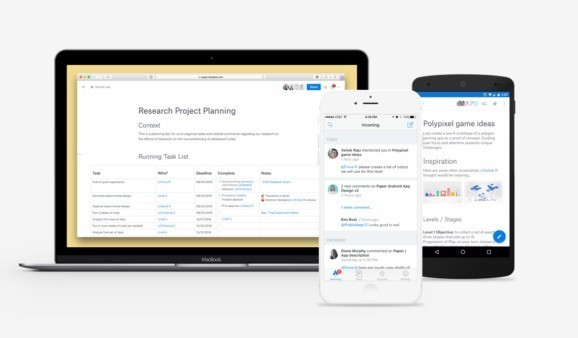 Dropbox launches Paper note-taking app in open beta, releases Android and iOS apps