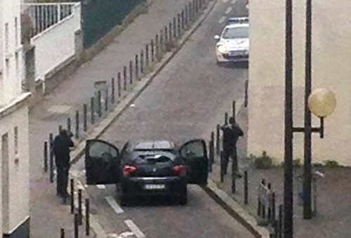 Shooting at Paris Newspaper: Pictures