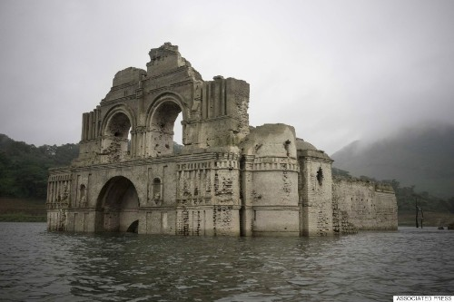 Mexico Drought Sees 400-Year-Old Church Emerge From Reservoir In Chiapas
