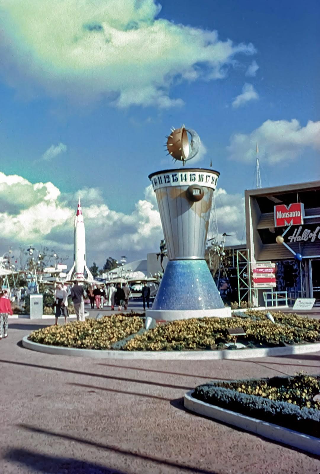 Daily Vintage Disneyland: The World Clock at Disneyland's Tomorrowland Facebook: