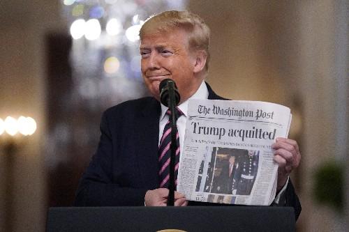 Trump unleashes impeachment fury in acquittal 'celebration'