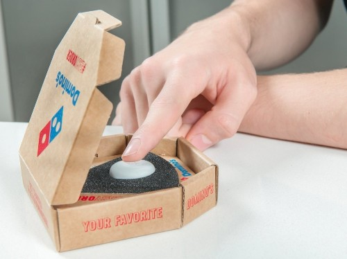 Domino's has launched a physical button you push to order pizza