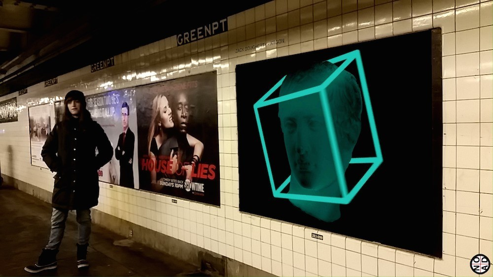 Augmented Reality Brings GIF Art to a Subway Platform Near You