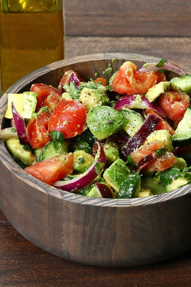 Cucumber, Tomato, And Avocado Salad Recipe by Tasty