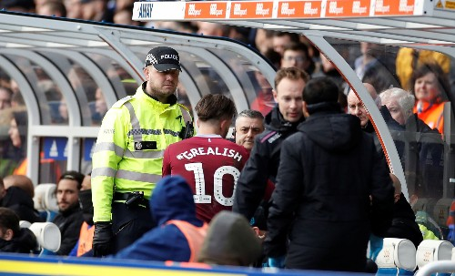 Birmingham fined for pitch attack on Villa's Grealish