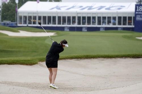 South Korean Kim grabs clubhouse lead at Women's PGA Championship