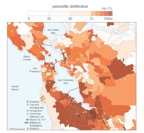 An analysis of San Francisco's startups shows where the 'real' Silicon Valley is