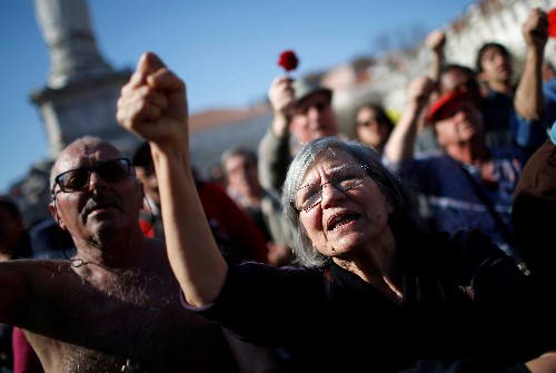 Portugal marks 45 years of democracy but fight carries on