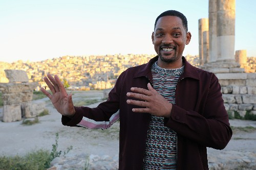Will Smith goes from fear to joy as Aladdin's new genie