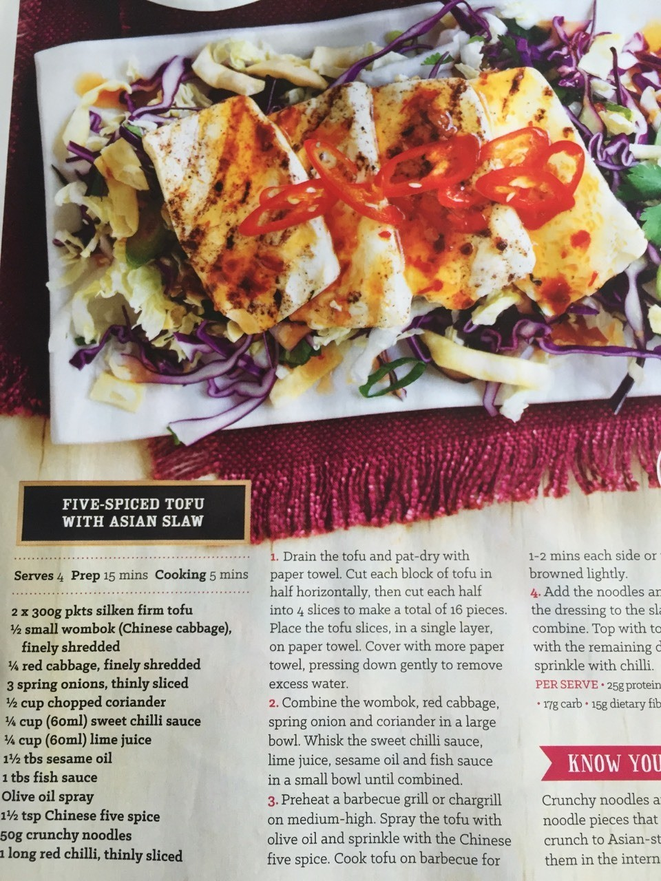 Five Spice Rof with Asian Slaw