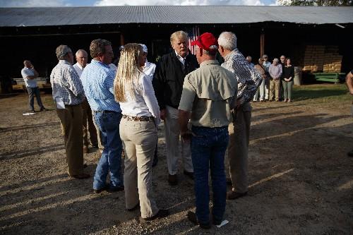 The Latest: Trump hears from Georgia farmers on hurricane