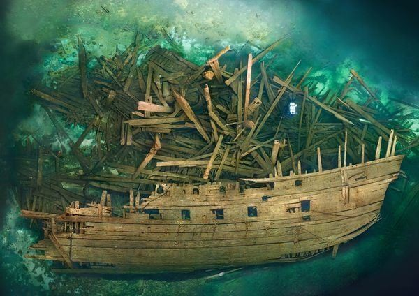 Cursed Warship Revealed With Treasure Onboard