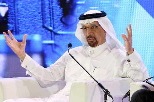 Saudi's Falih sees no need for swift output action after Iran oil waivers end