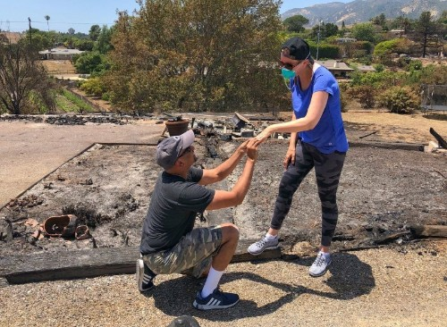 California couple rescue wedding rings from wildfire's ashes