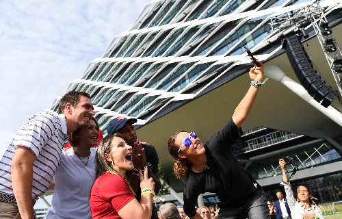 Adidas celebrates 70 years with star-studded building opening
