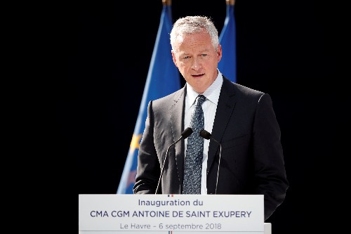 French finance minister says budget deficit will be below 3 percent of GDP in 2019