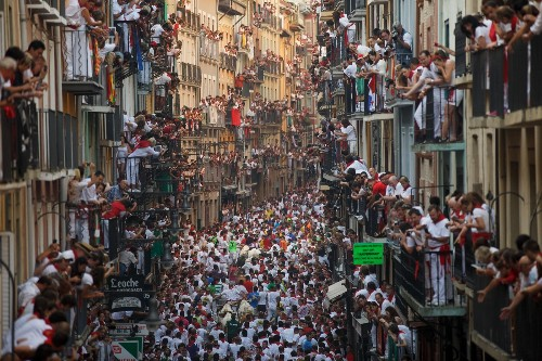 Running of the Bulls: Photos