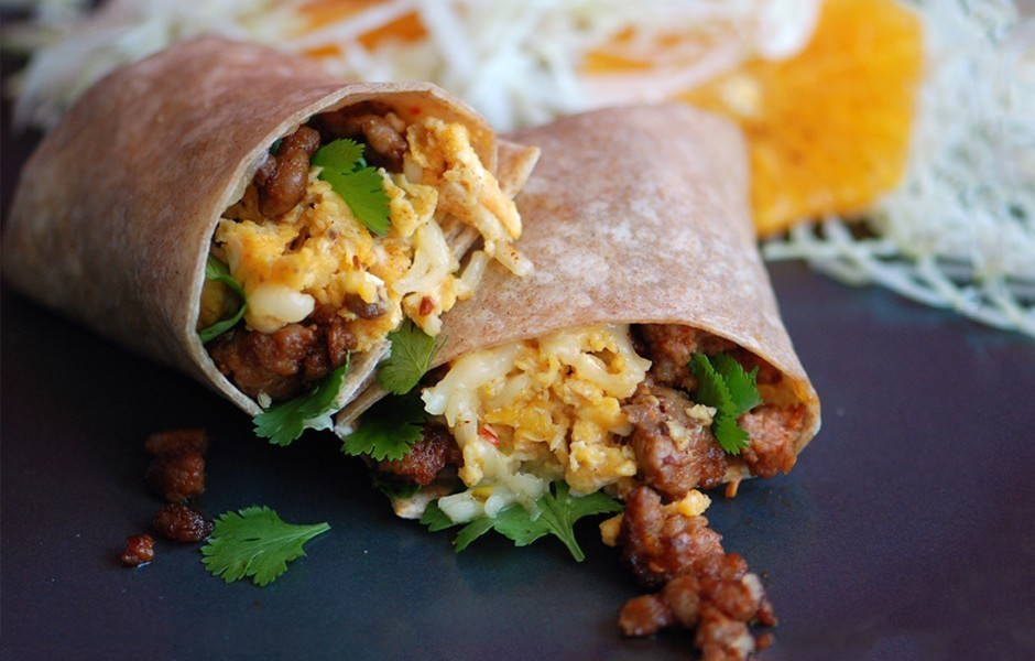 Egg and Chorizo Burritos