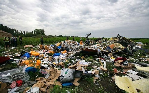 MH17: A scene of horror – death and the banalities of life together in a Ukrainian field