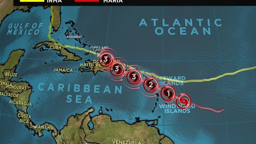 Hurricane Maria strengthens to Category 3, heads toward Puerto Rico