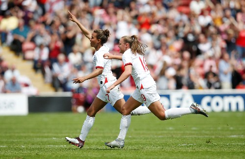 Soccer: England women beat Denmark 2-0 in World Cup warm-up